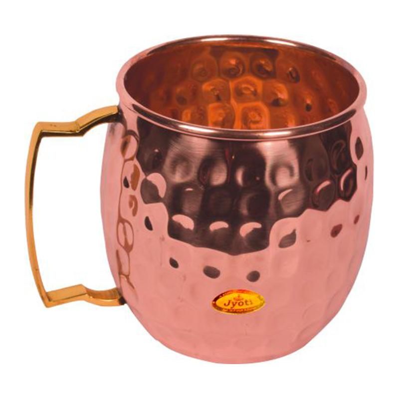 Copper Mug Hammered Sw Cm
